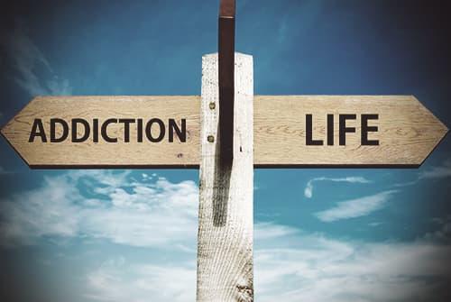 Addiction life sign