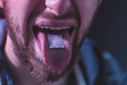 Taking LSD Hallucinogenic Drug