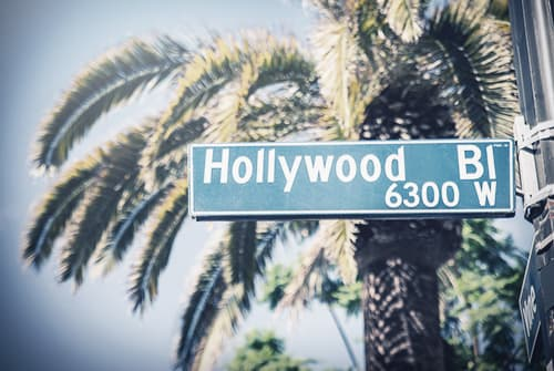 Hollywood street sign